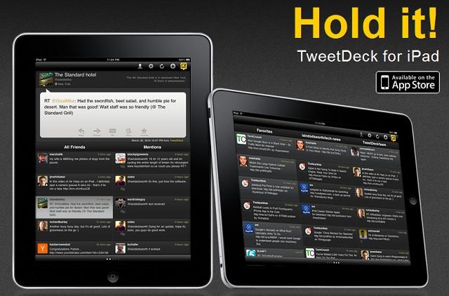 TweeDeck para iPad