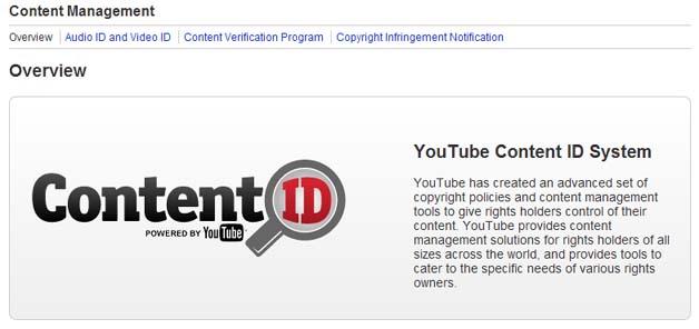 YouTubeContentID