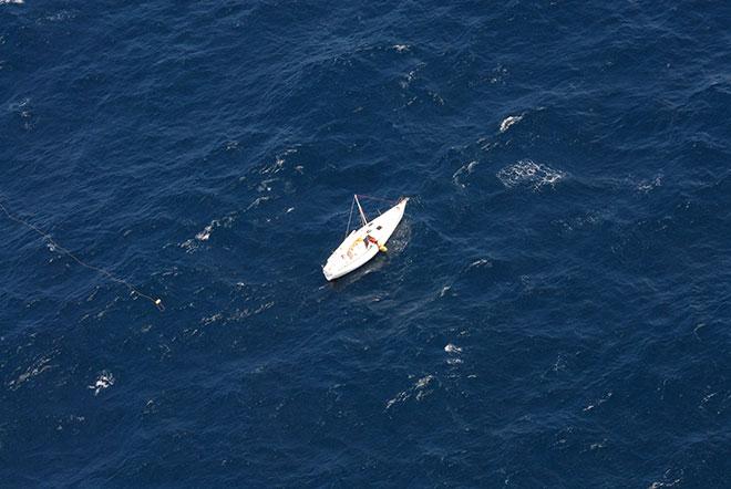 Barco encontrado por el vuelo de Air Canadá