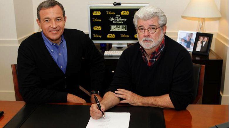 Robert Iger y George Lucas