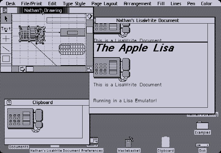 Apple Lisa GUI