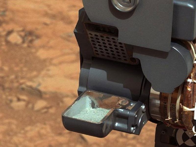 Curiosity extrae una roca del interior de Marte