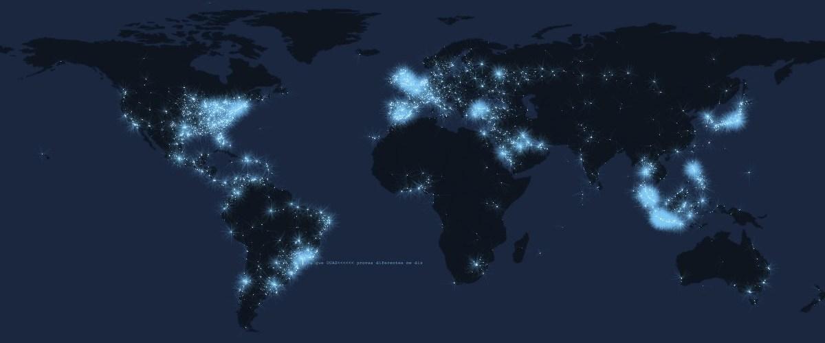Mapa con tweets