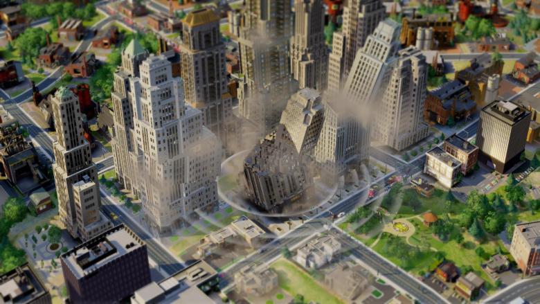 fallos en simcity terremoto