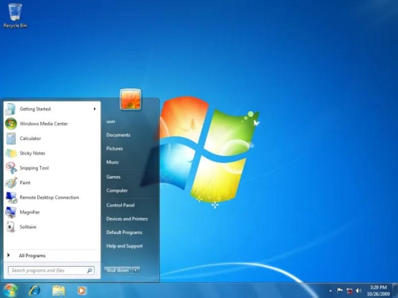 Windows 7 - Escritorio en Windows Blue