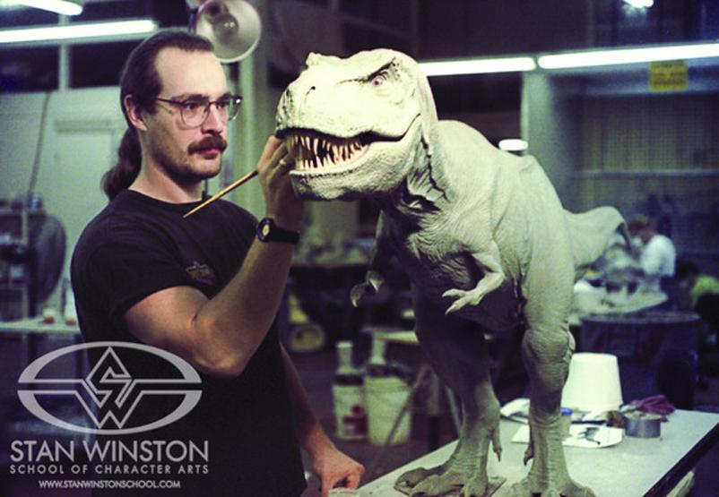 Construcción del tiranosaurio de Jurassic Park