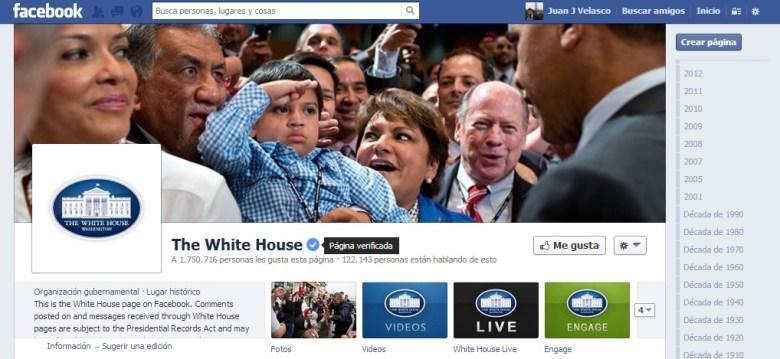 Pagina verificada casa blanca - Facebook lanza perfiles y las páginas verificadas