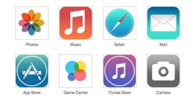 'diseño de iOS 7