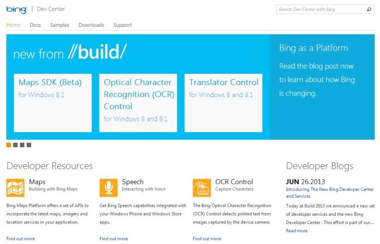 Bing for Developers