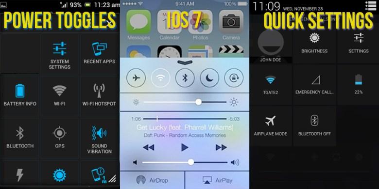 iOS 7 en Android