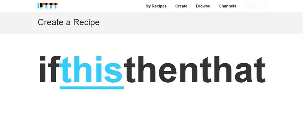 aplicación para IFTTT