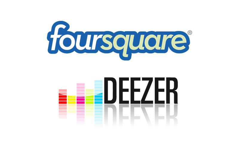foursquare + deezer