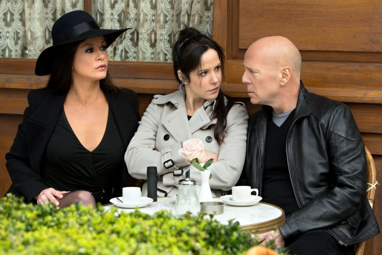 Catherine Zeta Jones, Mary-Louise Parker y Bruce Willis en RED 2