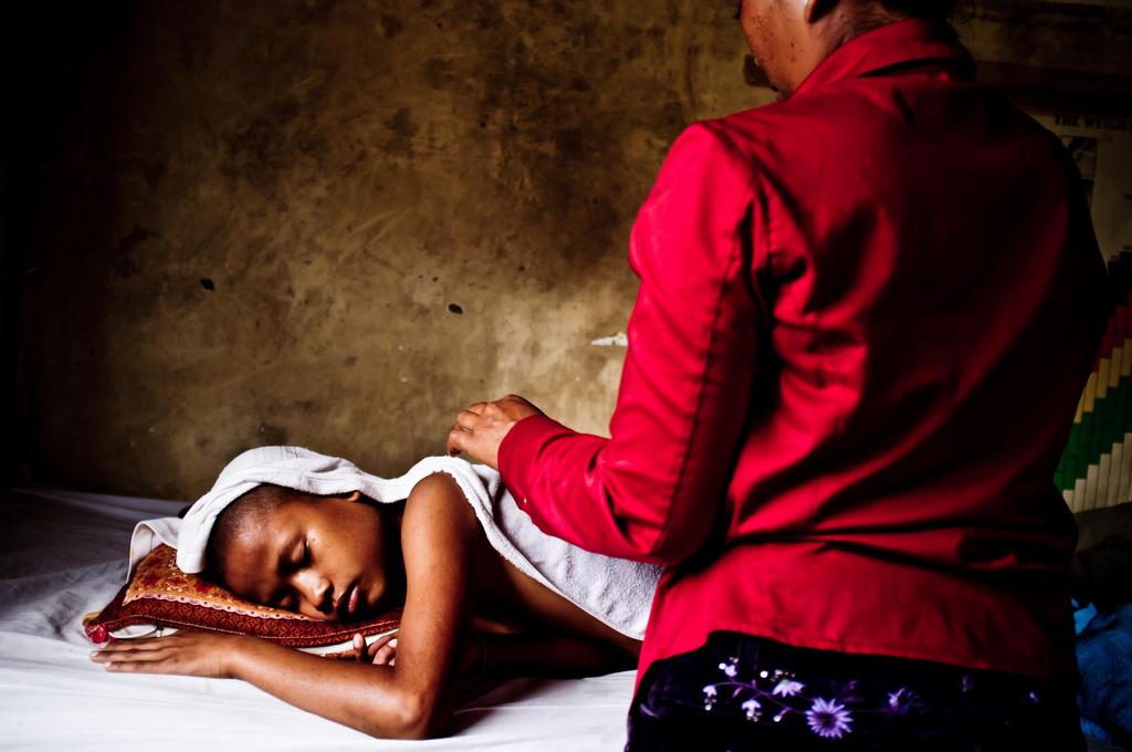 Paciente afectado por malaria