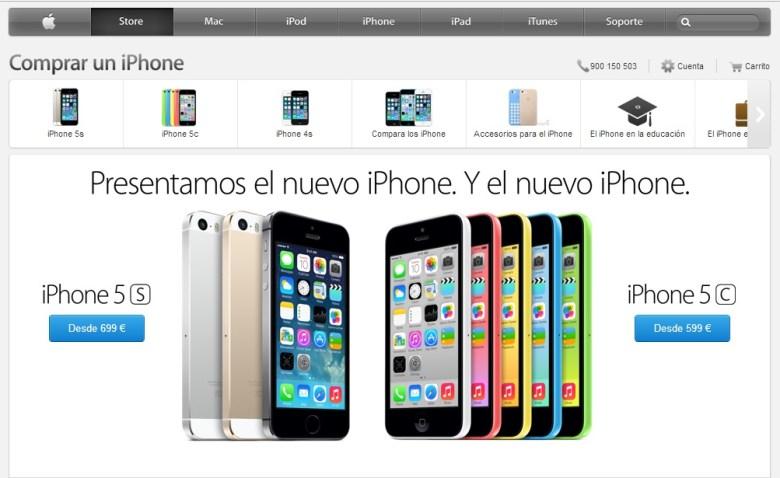 Precios en España iPhone 5s y iPhone 5c