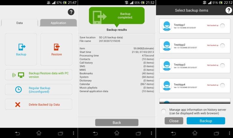JS Backup - copias de seguridad en Android
