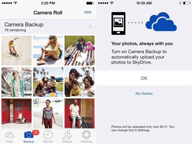 SkyDrive para iOS