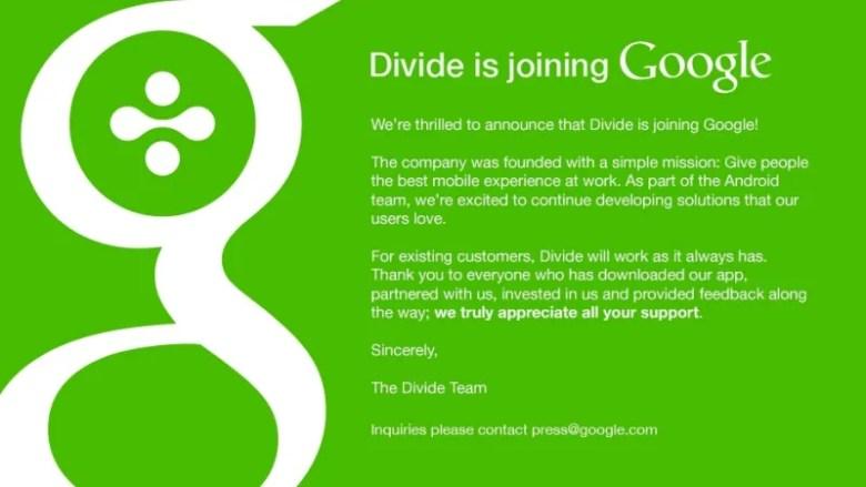 google divide