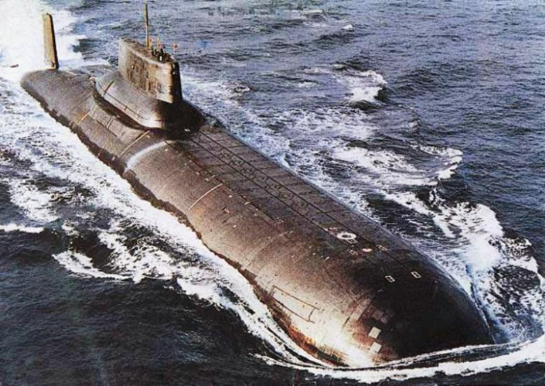 Submarino tipo Typhoon, en el que se basó el Octubre Rojo.