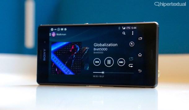 Sony Xperia Z3 - Horas de música sin resentir la batería