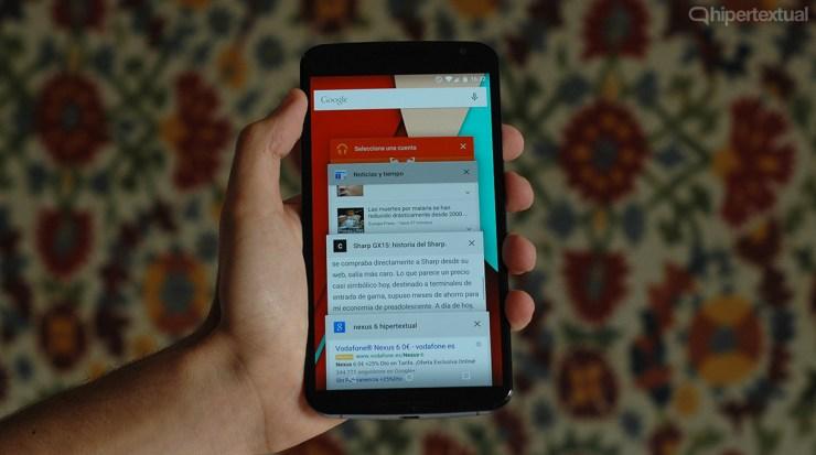 Nexus 6 lollipop multitarea