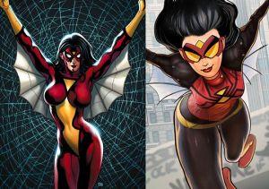 Spider-Woman, antes y después