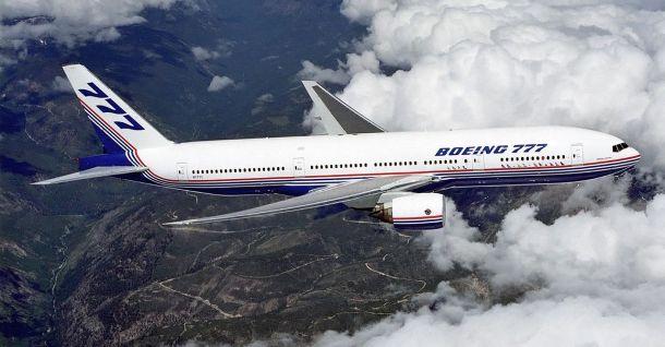 Boeing 777-200 jet stream