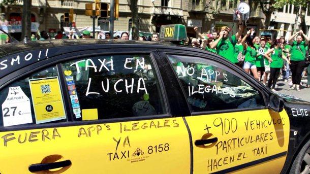 La llegada de Uber a España no sentó nada bien al sector del taxi.