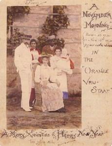 Familia Tolkien en una postal navideña. <a href=