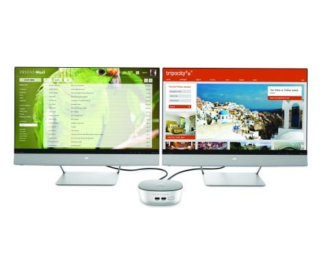 HP Pavilion Mini - dual monitor