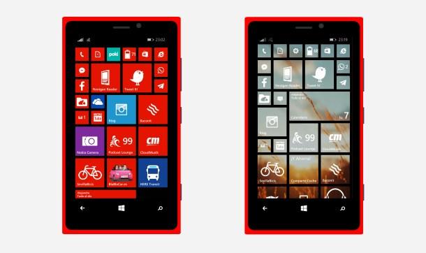 Lumia tiles transparentes