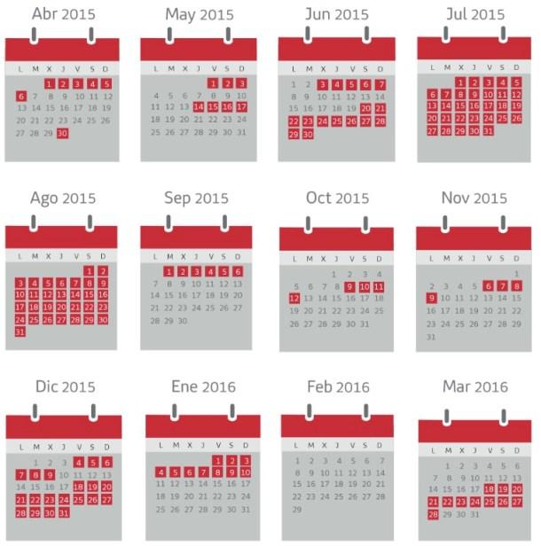 calendario iberia plus