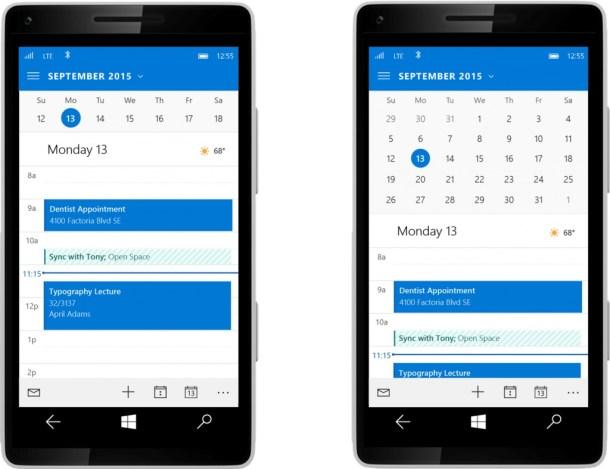 Outlook calendario Windows 10