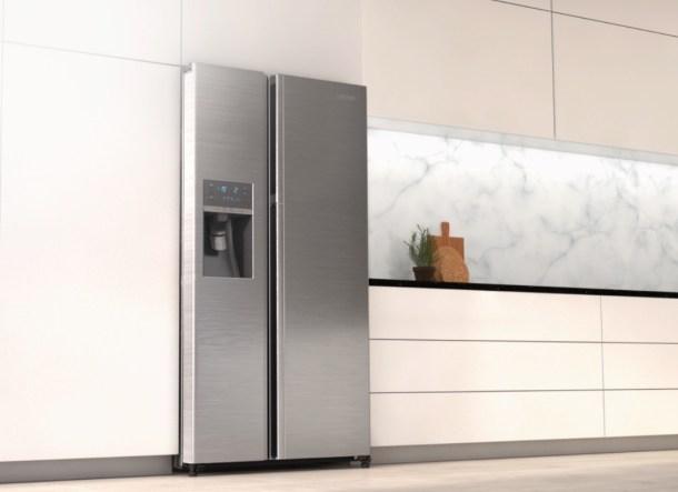 Los eficientes y estéticos frigoríficos side-by-side.