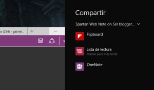 project spartan compartir notas