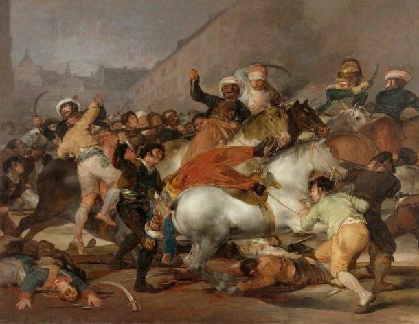 La Carga de los Mamelucos, de Francisco Goya. <a href=