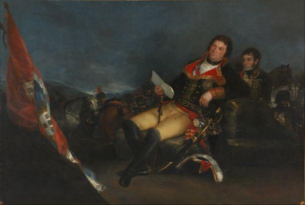 Manuel Godoy como general en la Guerra de las Naranjas de 1801. Retrato de Francisco Goya. <a href=