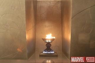 Aquí vemos 'The Eternal Flame' que apareció por primera vez en 'Thor' # 349, y forma parte de la mitología que rodea Surtur, un clásico villano de Thor y Ragnarok, el llamado 'Twilight of the Gods'