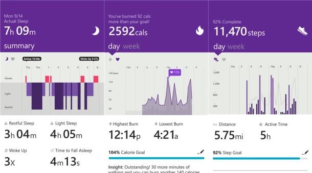 Microsoft Health - Windows Phone