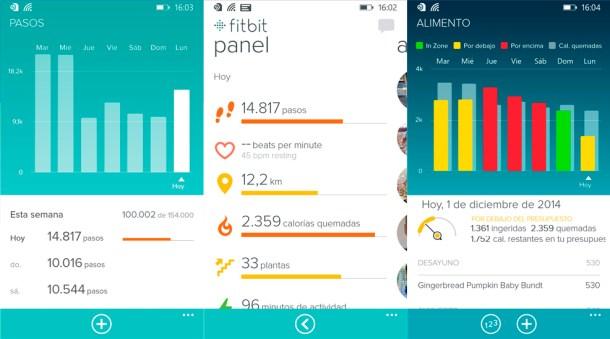 Fitbit app - Windows Phone