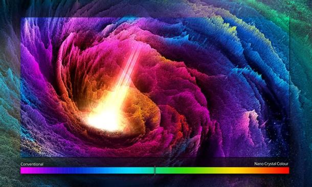Tecnología de color con nano cristales - Samsung SUHD
