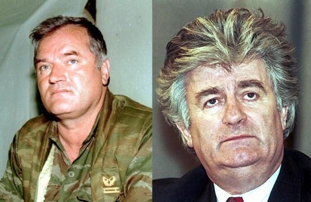 Mdalic y Karadzic, dos de los principales imputados en la Guerra de Bosnia. <a href=