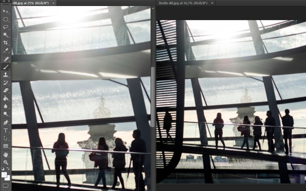 pantalla dividida photoshop