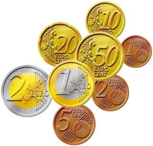 Caras de las monedas de euro. Fuente: FleurDeCoin