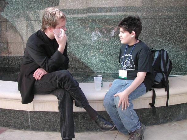 Larry Lessig y Aaron Swartz