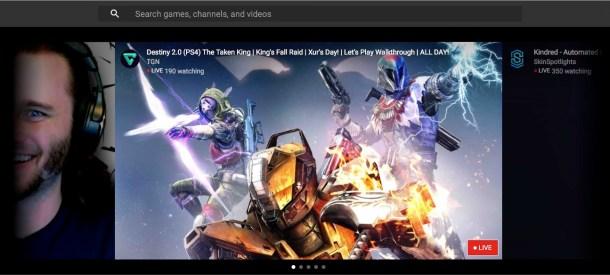 Esto es lo que encuentras un viernes a primera hora de la tarde en YouTube Gaming como destacado. Un canal visto por poco más de 100 personas.