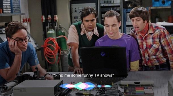 Representación de Siri mientras ves un TV Show.