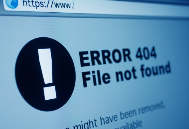 códigos de error en la web