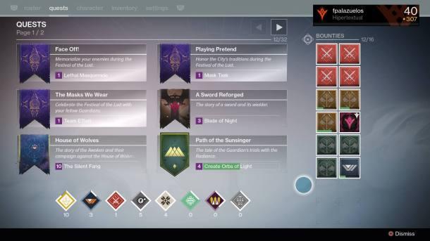 Las tres quests que obtendrás tras buscar caramelos en la Torre.
