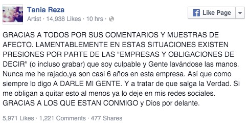 Tania Reza Facebook
